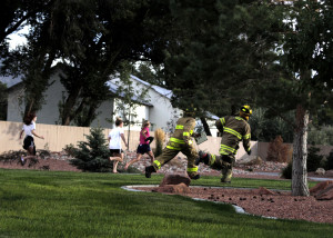 A mock disaster tested the knowledge and reflexes of first responders with both the Cedar City Fire Department and Valley View Medical Center, Valley View Medical Center, Cedar City, Utah, Sept. 22, 2015 | Photo by Carin Miller, St. George News