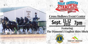 """Flyer for the """"Great American Stampede"""" 