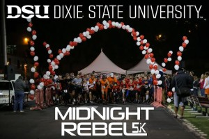 Dixie State University Midnight Rebel 5K, St. George, Utah, date not specified   Photo courtesy of Dixie State University Alumni Association, St. George News