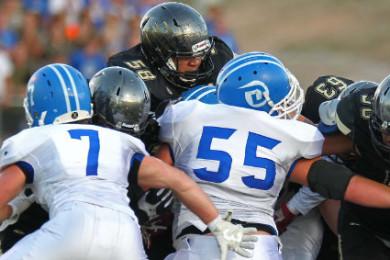 Desert Hills vs. Dixie, Football, St. George, Utah, Sept. 25, 2015, | Photo by Robert Hoppie, ASPpix.com, St. George News