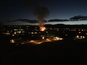A 25-foot brush fire burned a half an acre near Bridge Pointe Way, St. George, Utah, Sept. 6, 2015 | Photo by Michael Durrant, St. George News