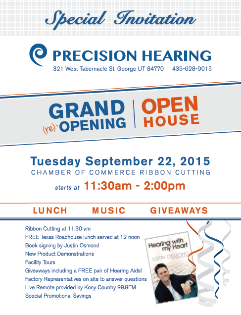 Event flyer | Image courtesy of Precision Hearing, St. George News