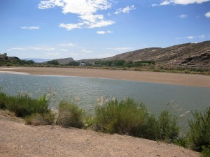 Grandpa's Pond, nearly empty of water after draining, Hurricane, Utah, Sept. 3, 2015 | Photo by Ric Wayman, St. George News