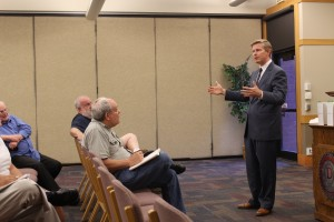 Jonathan Johnson addresses attendees to a town hall meeting at Dixie State University, St. George, Utah, Sept. 23, 2015 | Photo by Devan Chavez, St. George News