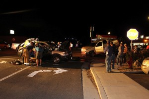 An accident on State Street claimed one life Thursday night, Hurricane, Utah, Sept. 25, 2015 | Photo by Ric Wayman, St. George News
