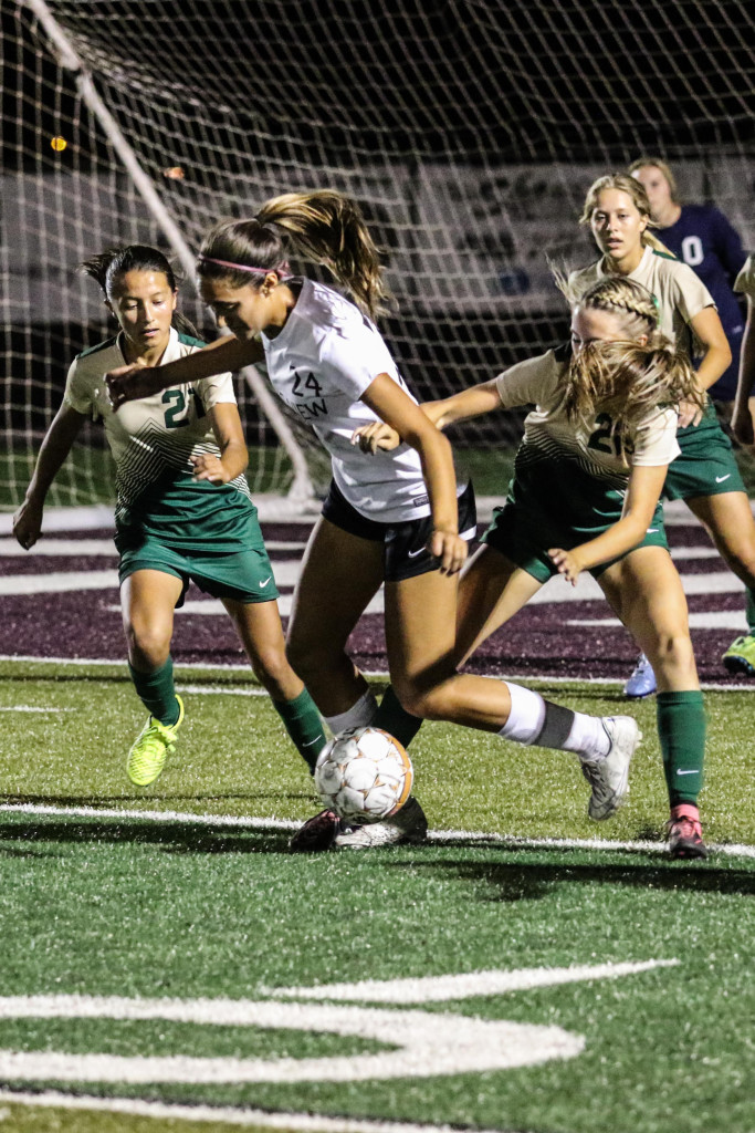Pine View's Tayvia Ah Quin (24), Pine View vs. Snow Canyon, Soccer, St. George, Utah, Sept. 24, 2015, | Photo by Kevin Luthy, St. George News