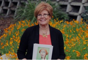 """Leslie Peterson, the artist of """"The Forgotten Wives of Joseph Smith,"""" Salt Lake City, Utah, May 2015 