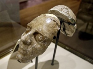 The death mask of Joseph Smith is shown during a tour of the Mormon Church History Museum, Sept. 29, 2015, in Salt Lake City. The Mormon church's renovated history museum set to reopen this week features a small and surprising display about an uncomfortable part of the faith's history that for generations has been glossed over: polygamy. | AP Photo by Rick Bowmer, St. George News