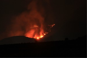 Oak Grove Fire at night, as seen from Toquerville, Utah, Sept. 9, 2015   Photo courtesy of Thadeous Moore, St. George News