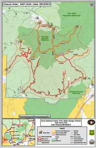 Map of road closures | Click to enlarge | PDF courtesy of the U.S. Forest Service, St. George News