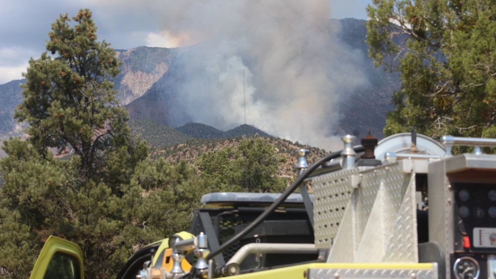 Fire near Pine Valley Mountain equivalent of 100 football ...