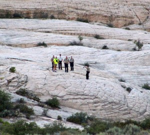 Searchers look for the body of a missing man in Snow Canyon State Park, Utah, Sept. 17, 2015 | Photo by Ric Wayman, St. George News