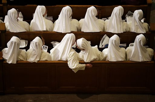 Nuns sit in their pews while waiting for Pope Francis to arrive inside the Basilica of the National Shrine of the Immaculate Conception Wednesday, Sept. 23, 2015, in Washington | AP Photo by David Goldman, St. George News