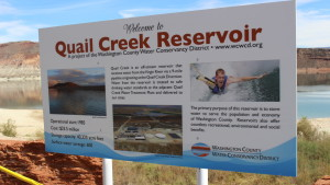 Welcome to Quail Creek reservoir, Hurricane, Utah, Sept. 21, 2015 | Photo by Mori Kessler, St. George News