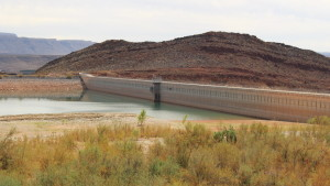 Quail Creek reservoir and the west dam, Hurricane, Utah, Sept. 21, 2015 | Photo by Mori Kessler, St. George News