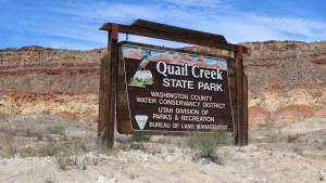 Welcome to Quail Creek State Park, Hurricane, Utah, Sept. 21, 2015 | Photo by Mori Kessler, St. George News