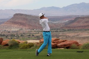 Davis Garner finished third at the Sand Hollow Open. | Photo by Garrit Johnson, Fairways Media
