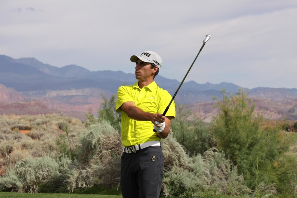 Joe Parkinson finished second at the Sand Hollow Open. | Photo by Garrit Johnson, Fairways Media