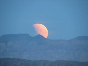 Lunar eclipse from the Ridge Top Complex, St. George, Utah, September 27, 2015   Photo courtesy of Sandie Divan, St. George News