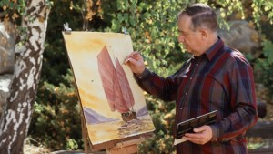 Painting was one of Richard G. Scott's hobbies, date and location not specified | Photo courtesy of The Church of Jesus Christ of Latter-day Saints, St. George News
