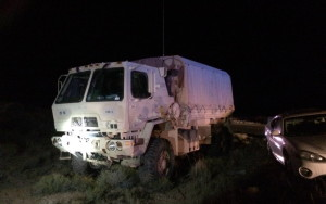 A three-vehicle accident sent tow boys to the hospital with minor injuries and tried up SR-59 near Apple Valley, Utah, Sept. 17, 2015   Photo by Mori Kessler, St. George News