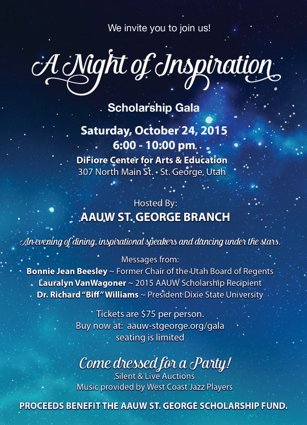 """A Nght of Inspiration"" scholarship gala 