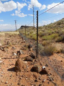 A tortoise fence marks the boundary of the Red Cliffs National Conservation Area, St. George, Utah, Aug. 29, 2015 | Photo by Julie Applegate, St. George News