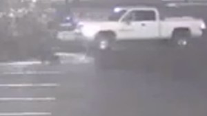 The driver of the truck seen on surveillance footage in the parking lot of Dixie Regional Medical Center is wanted for questioning by police, St. George, Utah, Aug. 11, 2015 | Photo courtesy of the St. George Police Department, St. George News