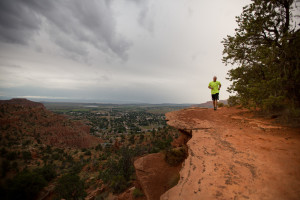 Runner on a ledge, Kanab, Utah, undated | Photo by Tyler Cornell, St. George News