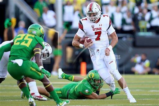 Travis Wilson, Utah at Oregon, Eugene, Ore, Sept. 26, 2015 | AP Photo
