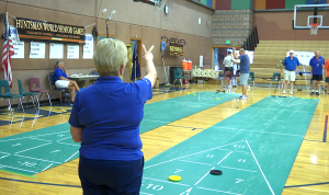 Hunstman World Senior Games Shuffleboard, Oct. 17, 2015 | Photo by Leanna Bergeron, St. George News
