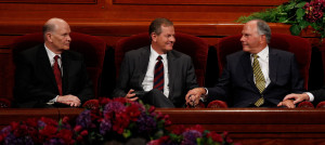 Elder Dale G. Renlund (left) and Elder Gary E. Stevenson (center) and Elder Ronald A. Rasband were named as the three newest apostles to the Quorum of the Twelve Apostles during the afternoon session of general conference, Saturday, Oct. 3, 2015 | Photo courtesy of The Church of Jesus Christ of Latter-day Saints, St. George News
