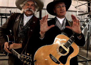 In Cahoots; Hired Guns, Cowboy EnterTrainers Lannie 'The Marshal' Scopes and Craig 'Creek' Jackson performed Saturday at the Diamond Z Arena at the Cedar City Livestock and Heritage Festival, Cross Hollows Event Center, Cedar City, Utah, Oct. 24, 2015 | Photo by Carin Miller, St. George News
