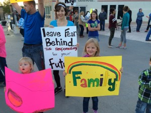 Community rally, Colorado City, Arizona, Oct. 25, 2015 | Photo by Cami Cox Jim, St. George News
