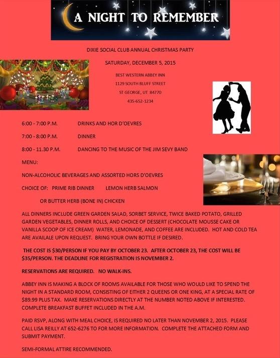 Flyer courtesy of Dixie Social Club, St. George News