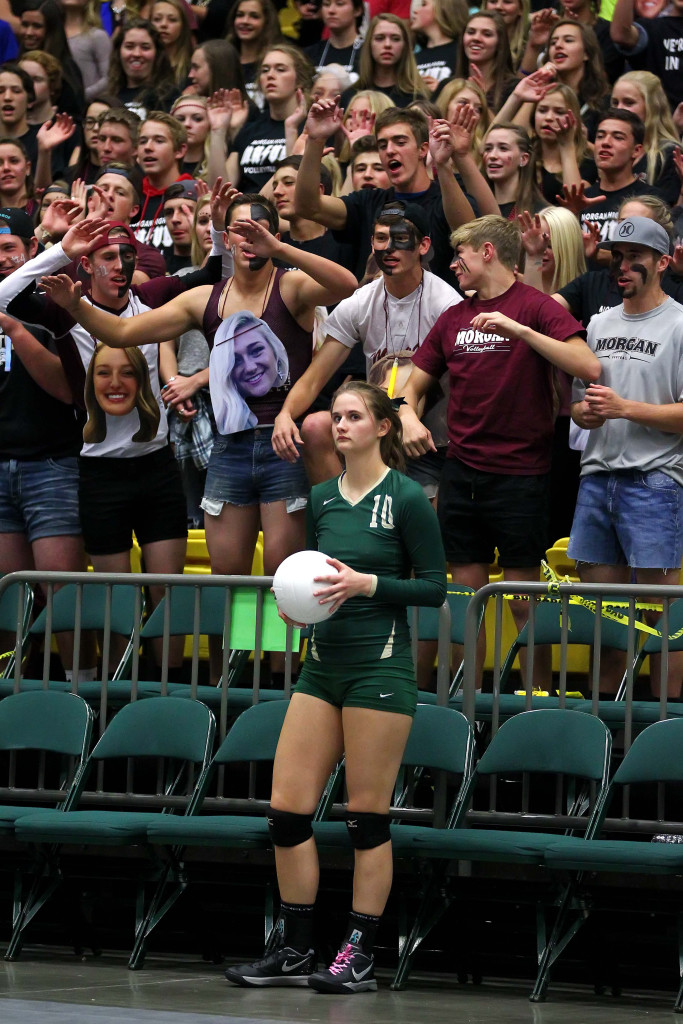 Snow Canyon's Ally Dunston (10), 3A State Volleyball Tournament, Orem, Utah, Oct. 29, 2015, | Photo by Robert Hoppie, ASPpix.com, St. George News