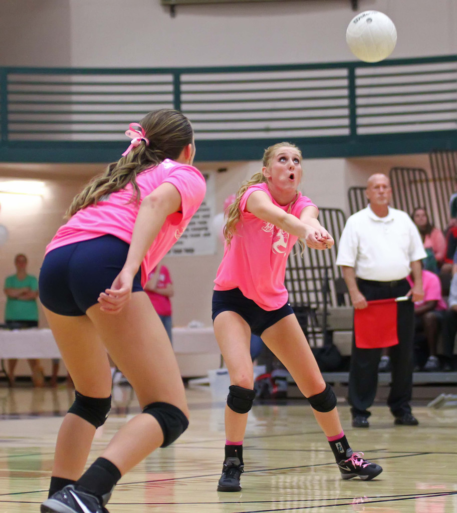 Snow Canyon's  Nikenna Durante (9), Snow Canyon vs. Dixie, Volleyball, St. George, Utah, Oct. 22, 2015, | Photo by Robert Hoppie, ASPpix.com, St. George News