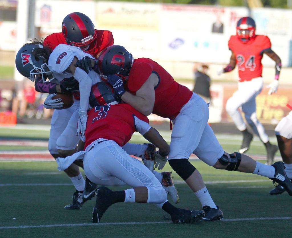 Dixie State University vs. Western Oregon University, Football, St. George, Utah, Oct. 2, 2015, | Photo by Robert Hoppie, ASPpix.com, St. George News