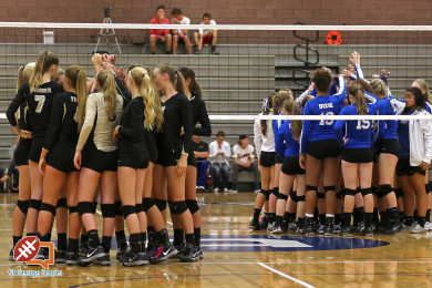 Dixie vs. Desert Hills, Volleyball, St. George, Utah, Oct. 6, 2015, | Photo by Robert Hoppie, ASPpix.com, St. George News