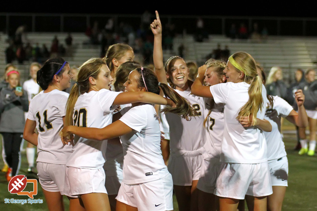 Desert Hills wins the Region 9 championship, Cedar vs. Desert Hills, Girls Soccer, St. George, Utah, Oct. 6, 2015, | Photo by Robert Hoppie, ASPpix.com, St. George News