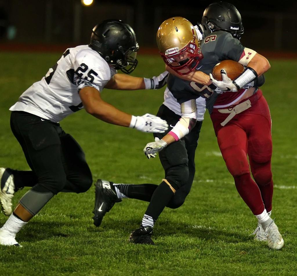 Drake Lewis (9) carries for Cedar, Cedar vs. Pine View, Football, Cedar City, Utah, Oct. 9, 2015, | Photo by Robert Hoppie, ASPpix.com, St. George News