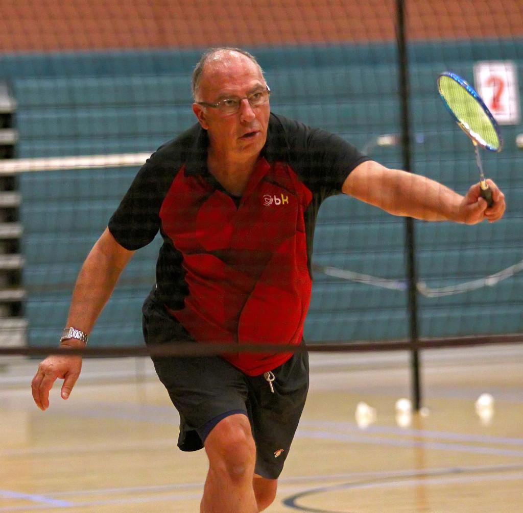 Rick Frost, Huntsman World Senior Games, Badminton, St. George, Utah, Oct. 12, 2015, | Photo by Robert Hoppie, ASPpix.com, St. George News