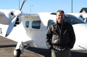 Retired Lt. Col. Command Pilot Alan Carver in front of a Cessna fixed wing, location and date not specified | Photo courtesy of Upper Limit Aviation, St. George News