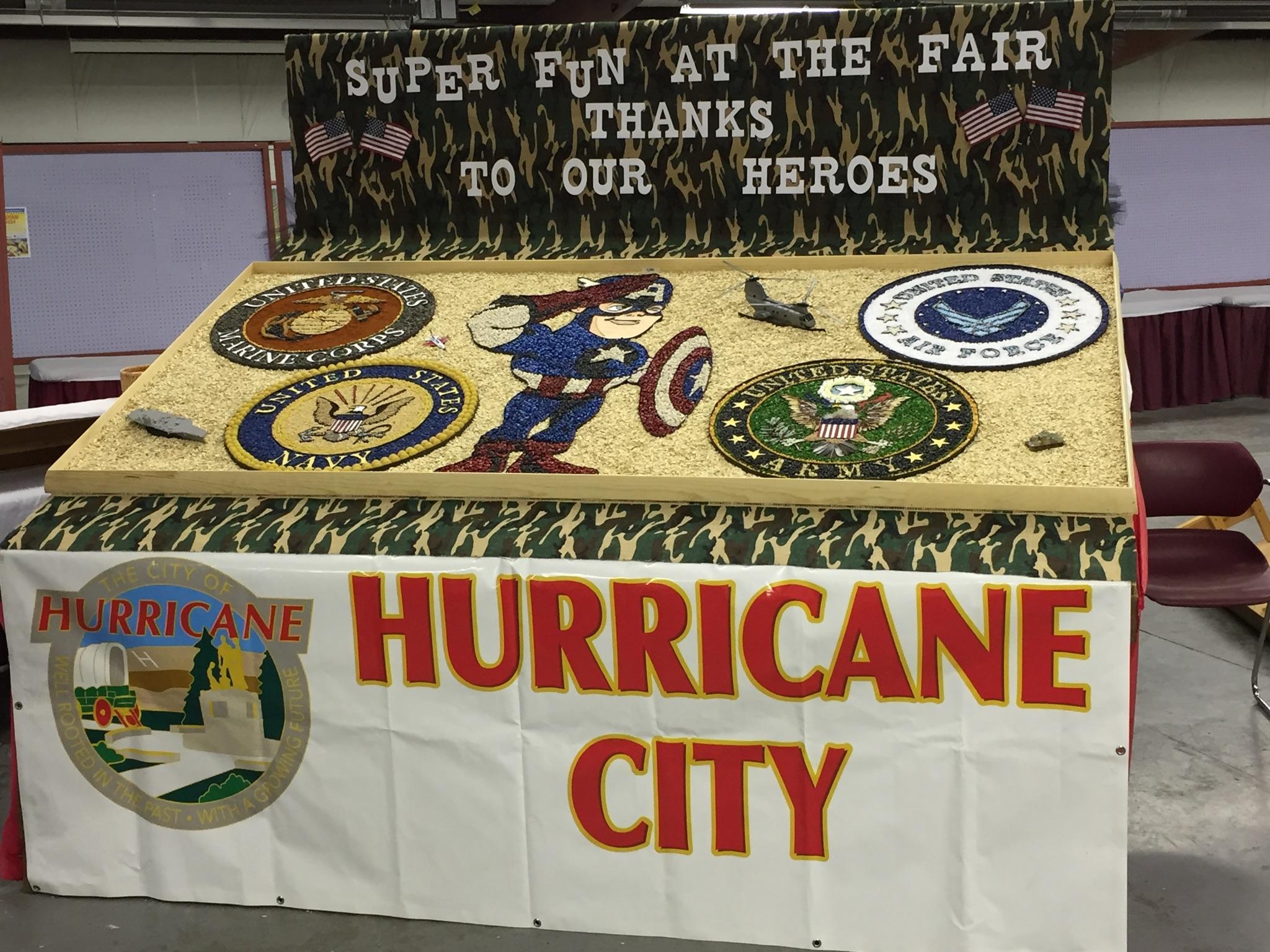 Hurricane City's award winning seed display, circa July-September 2015 | Photo courtesy of Matt Patterson, assistant Hurricane City recreation director, St. George News