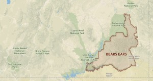 Map of proposed Bears Ears National monument in southeastern Utah | Image courtesy of Bears Ears Inter-Tribal Coalition