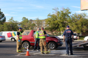Driver initiates a 3 car collision while under suspicion of DUI, St. George, UT, October 15, 2015   Photo by Cody Blowers, St. George News