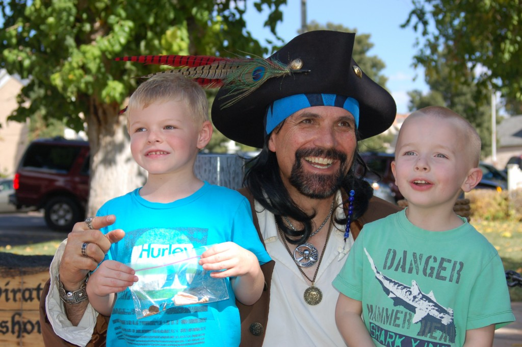 "Pictured, from left, Dax Crowley, Daniel ""Deep"" Emett and Lincoln Kelson get in the Halloween spirit at last year's Spooky Town Fair, St. George, Utah, Saturday, Oct. 25, 2014 