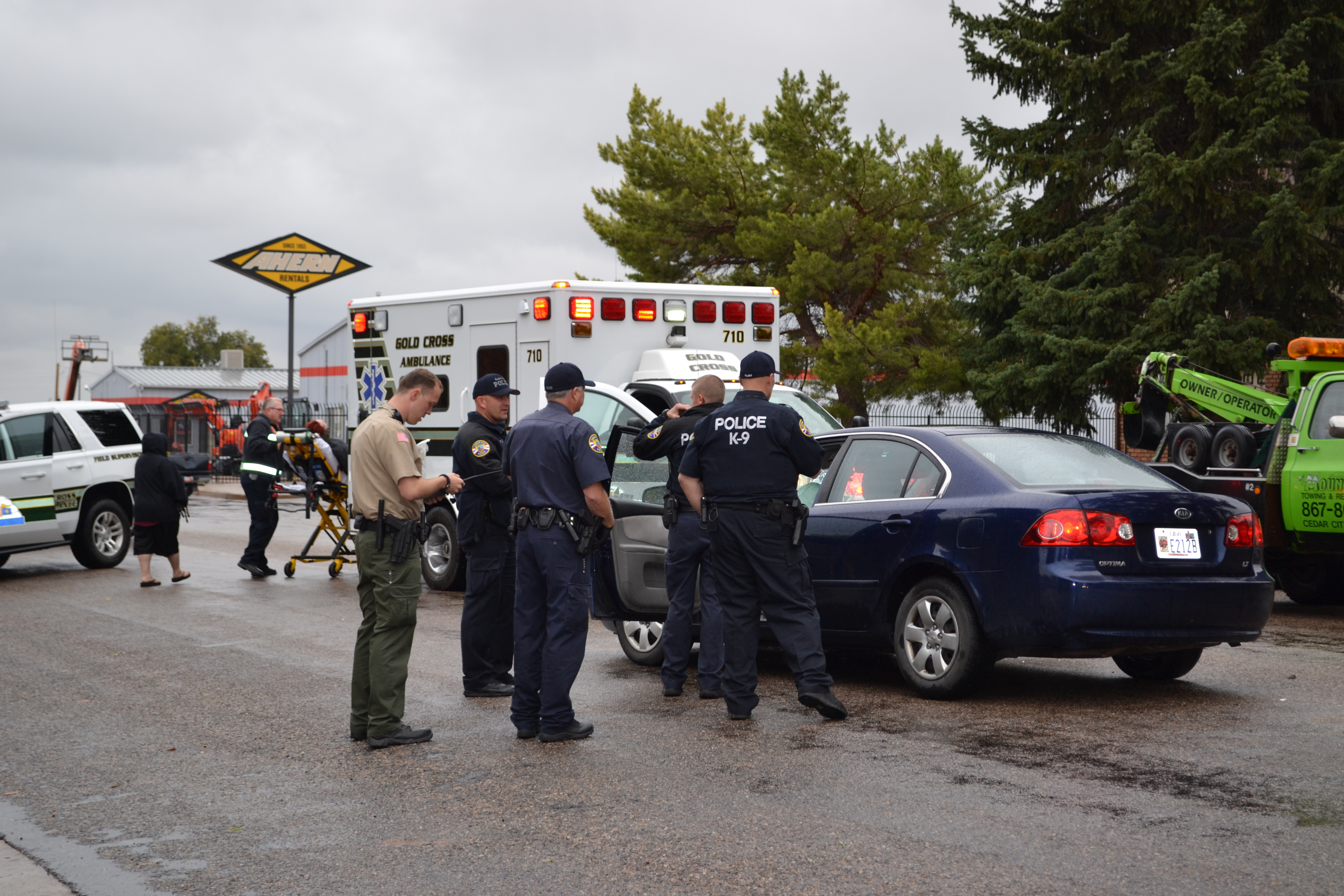 A woman was transported to the hospital after a collision with another vehicle, Cedar City, Utah, Oct. 29, 2015 | Photo by Emily Hammer, St. George News
