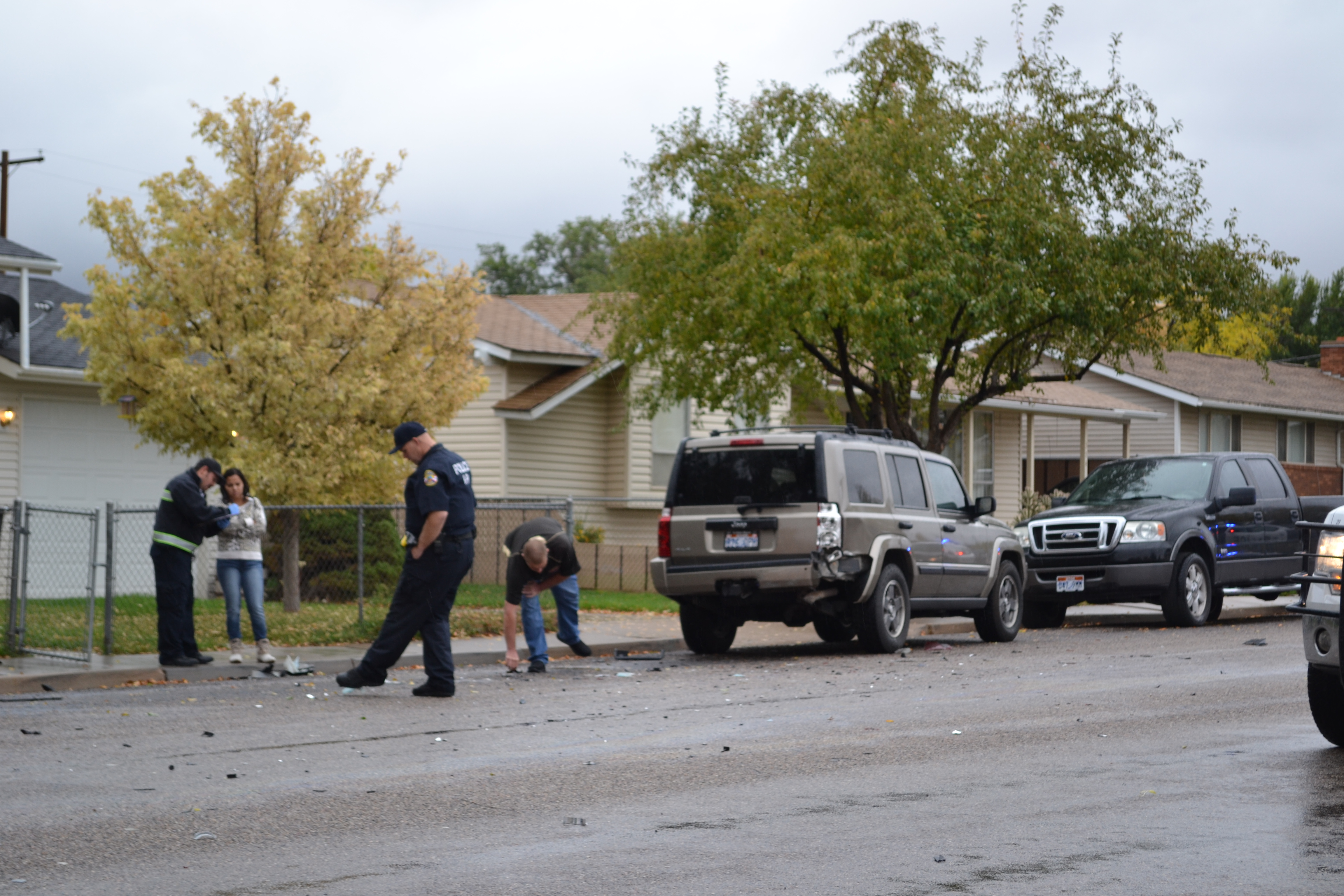 A Jeep backing out of a driveway struck an Optima, Cedar City, Utah, Oct. 29, 2015 | Photo by Emily Hammer, St. George News