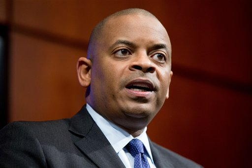 Transportation Secretary Anthony Foxx speaks during a news conference at the Transportation Department, where he announced the creation of a task force to develop recommendations for a registration process for Unmanned Aircraft Systems. Washington, D.C., Oct. 19, 2015 | AP Photo by Andrew Harnik, St. George News